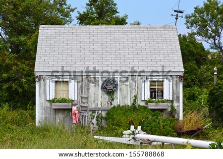 A rundown shack in Cape Cod, Massachusetts - stock photo