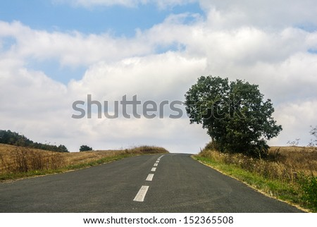 A rural road - stock photo