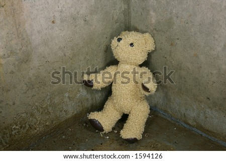 a sad teddy bear