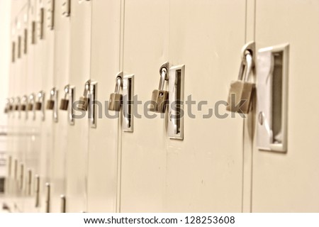 A safe place to store the equipment. - stock photo