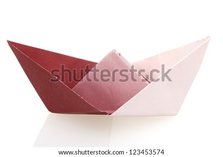 A sailing paper boat of origami