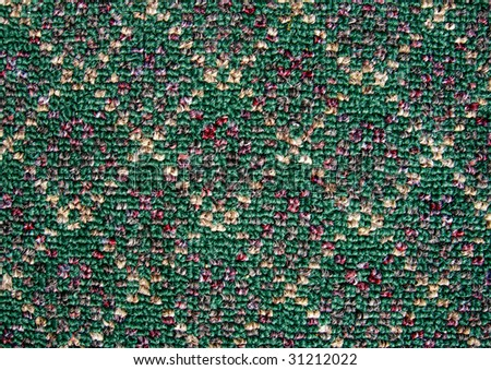 A sample of color pattern fibers. - stock photo