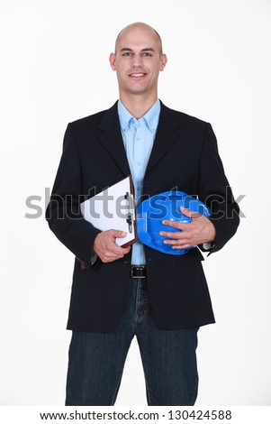 A satisfied architect. - stock photo