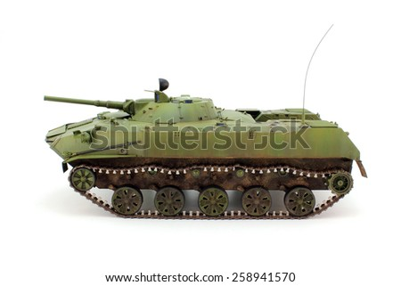 A scale model of Russian BMD left view - stock photo