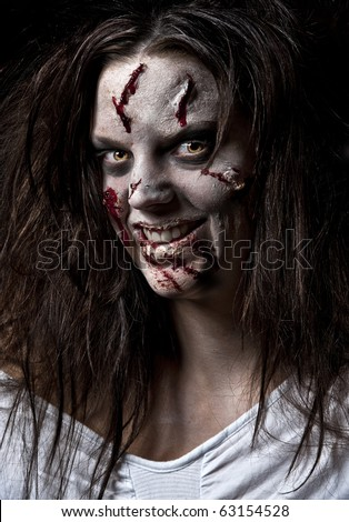 Halloween make up Stock Photos, Images, & Pictures ...