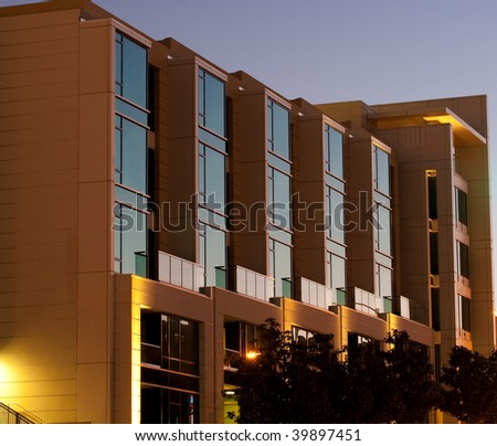 a scene from san francisco as the sun is setting - stock photo