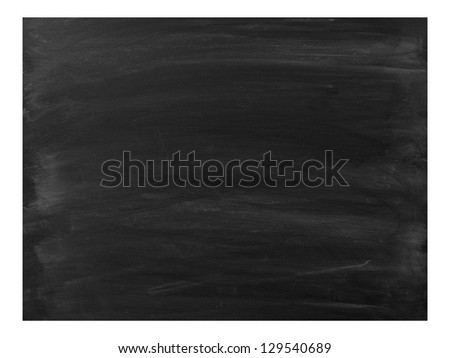 A school chalk board with chalk stains