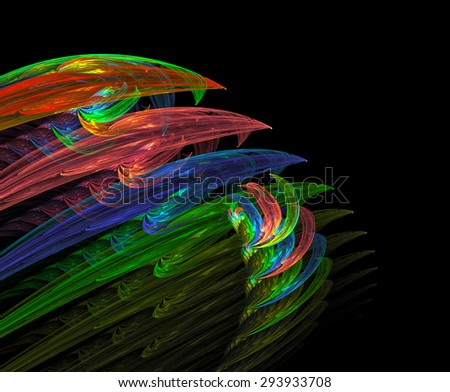 A school of dolphins abstract illustration - stock photo