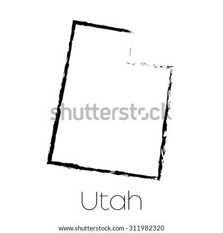 A Scribbled shape of the State of Utah