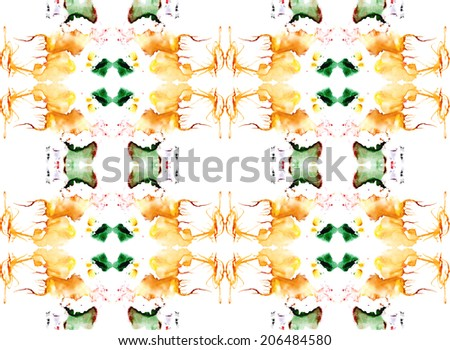 A seamless abstract watercolor pattern with splashes - stock photo