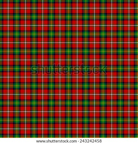 A seamless patterned tile of the clan Boyd tartan. - stock photo