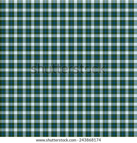 A seamless patterned tile of the clan Campbell Dress tartan. - stock photo