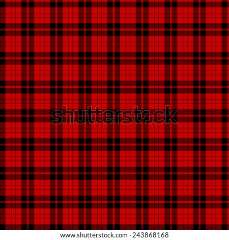 A seamless patterned tile of the clan Campbell of Armaddie tartan. - stock photo