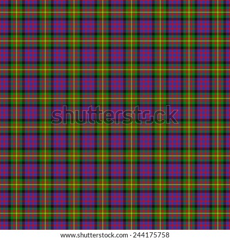 A seamless patterned tile of the clan Carnegie tartan. - stock photo