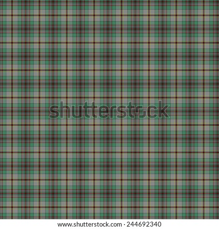 A seamless patterned tile of the clan Craig tartan. - stock photo