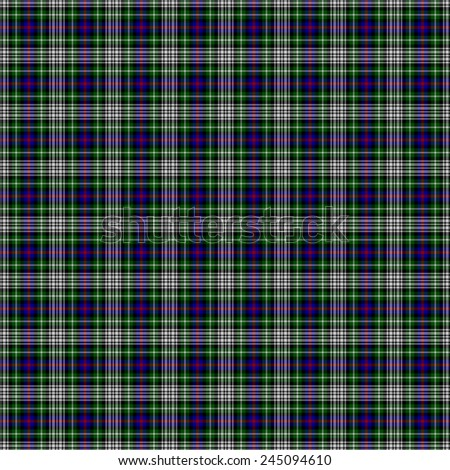 A seamless patterned tile of the clan Davidson of Tulloch Dress tartan. - stock photo