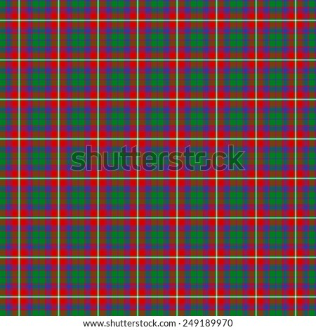 A seamless patterned tile of the clan Haig tartan. - stock photo