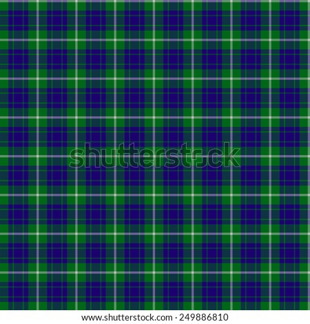 A seamless patterned tile of the clan Hamilton Hunting tartan. - stock photo