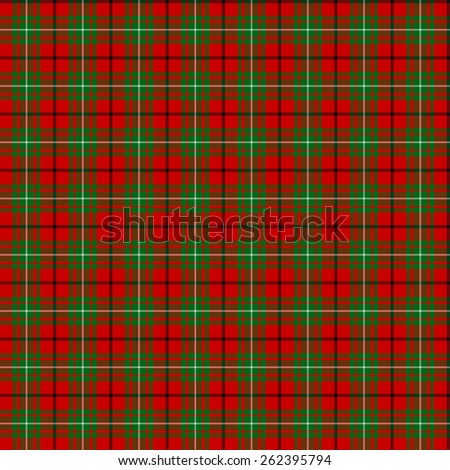 A seamless patterned tile of the clan MacAulay tartan. - stock photo