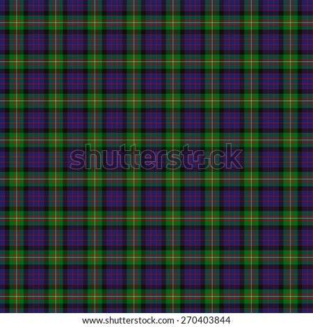 A seamless patterned tile of the clan MacDonell of Glengarry tartan. - stock photo