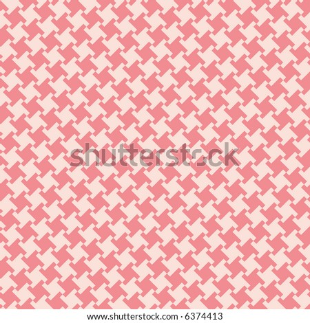 A seamless, repeating houndstooth pattern in coral and white. Vector format also available. - stock photo