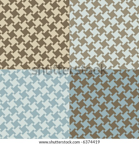 A seamless, repeating vector houndstooth pattern in current fashion colors. - stock photo