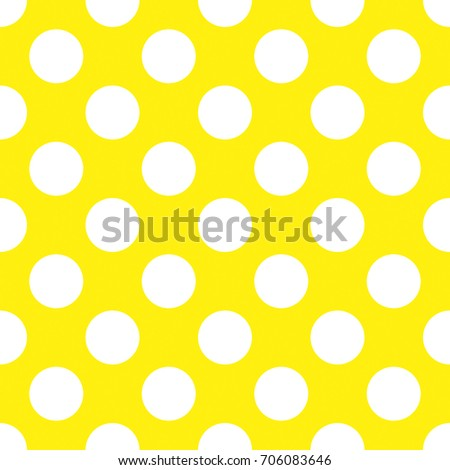 a seamless yellow polka dot background paper pattern