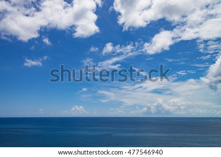 A seascape from a cruise ship close to Nassau, The Bahamas