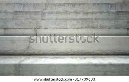 a section of empty concrete steps used for stadium seating