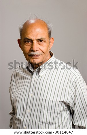 A senior East Indian man - stock photo