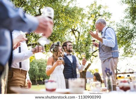 Senior Man Making Speech Wedding Reception Stock Photo Royalty Free