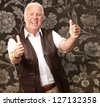 A Senior Man Showing Thumbs Up, Indoor - stock photo