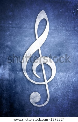 A series of Musical Notes on different colored textured backgrounds - stock photo