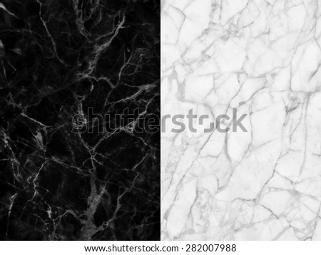 A series of natural marble (full size) patterned texture in black and white  for design. - stock photo