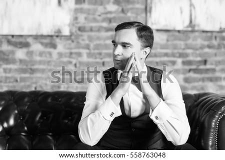 Serious man black white stock photo 558763048 shutterstock