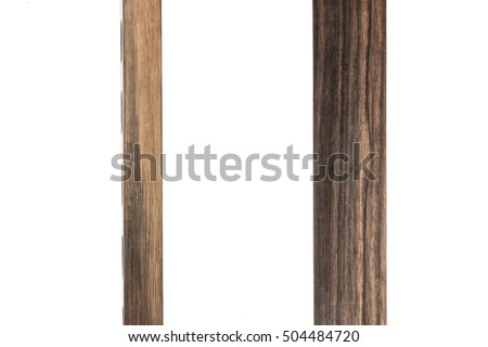 A set(group) of ebony wood for texture(background) isolated white.