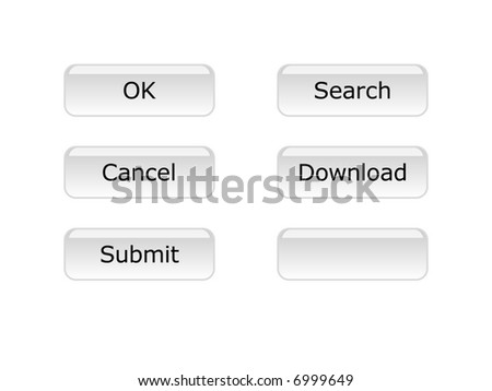 A set of buttons on white background