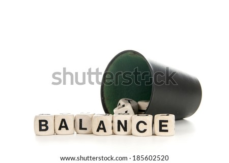 A set of character dices expressing prophecy - stock photo