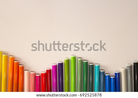 A set of color markers, markers for school children. Back to school.
