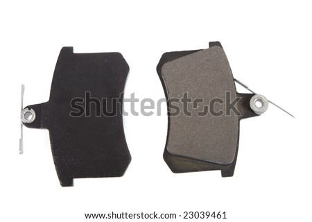 A Set of Disc Brake Pads Isolated - stock photo