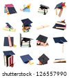 A set of graduating school - stock photo