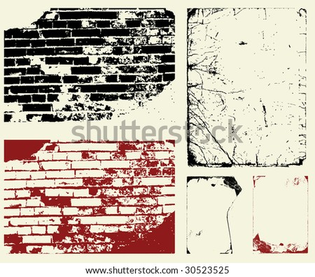 A set of grunge textures