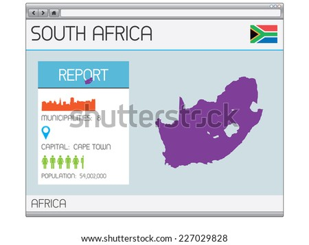 A Set of Infographic Elements for the Country of South Africa