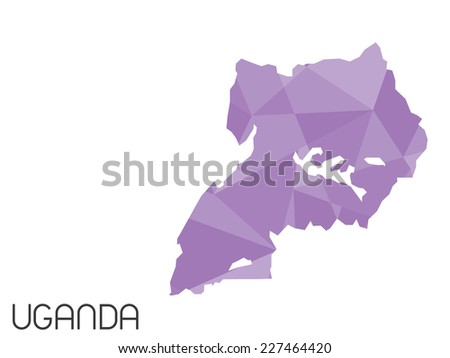 A Set of Infographic Elements for the Country of Uganda - stock photo