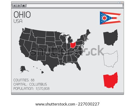 A Set of Infographic Elements within a Web Browser for the State of Ohio