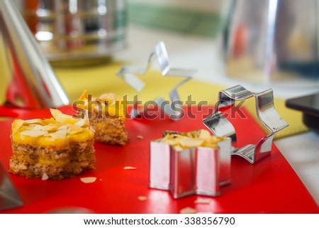 A set of metal molds for biscuits - stock photo