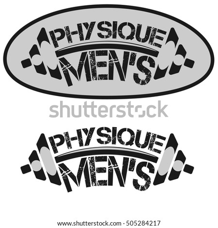 A set of monochrome fitness emblems, labels, logos and design elements bodybuilding