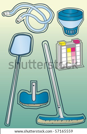 pool cleaning equipment lowes swimming philippines supplies target stock photo set hand drawn style