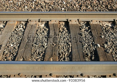 A set of railroad tracks in New Jersey - stock photo