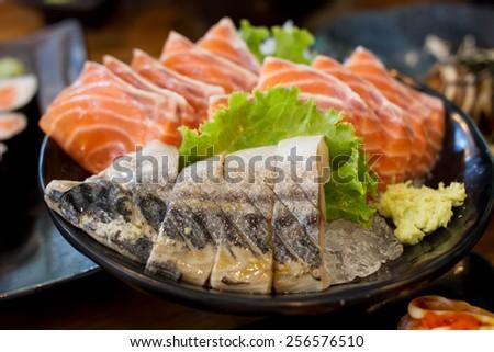 A set of sashimi. - stock photo